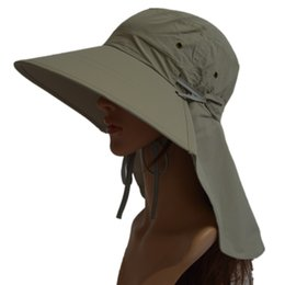 Wholesale Women Summer Anti Uv Hat - New Fashion Ladies Foldable Outdoor Anti-UV Protection Sun Hat Women Summer Quick Dry Wide Brim Hiking Beach Caps Gift For Girl