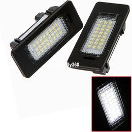Wholesale e72 e71 - 2Pcs LED License Plate Lights 24leds Number For BMW E82 E88 E90 E92 E93 E39 E60 Sedan M5 E70 X5 E71 E72 X6 E61 5 Series