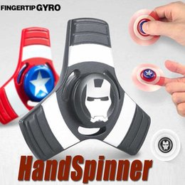 Wholesale Iron Man 12 - Captain America Iron Man Hand Spinner Zinc alloy Spinner Fidget Toy EDC Autism ADHD Finger Gyro Toy Adult Gifts Free Ship