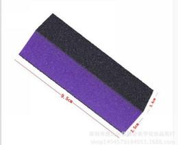 Wholesale heart acrylic nails - Wholesale- 5pcs Lot black with purple heart Buffing Sanding Buffer Files Block Acrylic Nail Art Manicure Set New