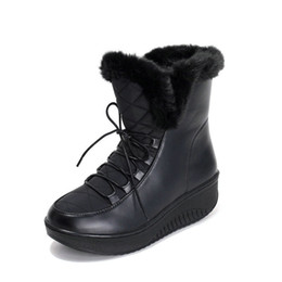 Wholesale Warm Sexy Winter Boots - 2018 brand ladies sexy snow boots leather warm and comfortable women's shoes, size 34-40