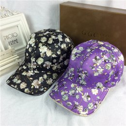 Wholesale European Flowers Pattern - Fashion small flower pattern hats casual sports travel ball caps designer baseball cap high-end European brand duck tongue hat With Box