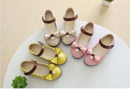 Wholesale Dancing Cow - New Kids Shoes Girl Rhinestone Ball Princess Shoes Kids PU Bow Dancing Shoes 5 P L