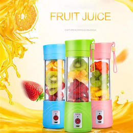 mezcladoras de hielo Rebajas Portable Electric Fruit Juicer Cup Vegetal Citrus Blender Juice Extractor Ice Crusher con conector USB Rechargeable Juice Maker Nuevo