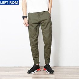 Wholesale Cool Casual Clothes - Wholesale- Casual trousers men 2017 new fashion business casual male black pants boy best selling clothing size S-5XL Popular cool choice