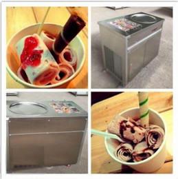 gelo frito Desconto Fabricante de sorvete elétrico 2017 20 polegada pan frito máquina de sorvete plano frito fabricante de sorvete tailandês
