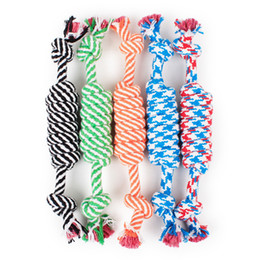 Wholesale Cotton Rope For Sale - Hot sale Pet Toys for dog funny Chew Knot Cotton Bone Rope Puppy Dog toy Pets dogs pet supplies for small dogs for puppys TO136