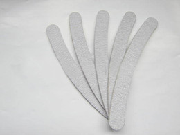 Wholesale Nail Care Buffer - 10 x Professional Grey Double Sides Nail Files Buffer Slim Grit 180 180 Sandpaper Women Nail Care Tools