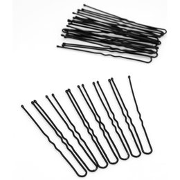 Wholesale Hair Care Black Women - Wholesale- 20pcs Metal Thin U Shape Hairpins For Women Ladies Hair Pins Black Hair Clip Health Care Styling Tools Hair Clips Accessories