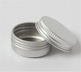 Wholesale Wholesale Sample Jars - 15g aluminum empty cosmetic container with lids 15ml small round lip balm tin solid perfume cosmetic packaging jar sample bottle