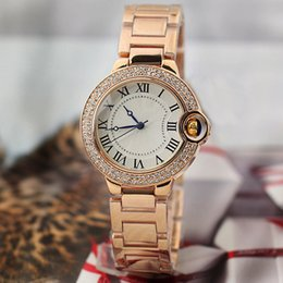 Wholesale Ladies Watches Roman Numerals - 2017 Charming Luxury Watch Women Watches Dress Lady Roman Numerals Dial Top Brand Ballon Style Quartz Wristwatches AAA Relojes Clock Gift