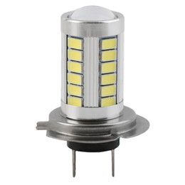 Wholesale H7 Lens Led Light - H7 Super Bright Light Headlight White 5630 SMD 33 LED Car Auto Lens Fog Driving Light Lamp Bulb DC12V