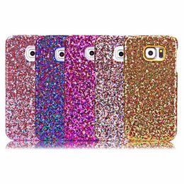Wholesale Lg Star Cover - Luxury Glitter Hard PC Case For iPhone 6 6 6S Plus Samsung Galaxy S6 S6 Edge Bling Stars Crystal Diamond Back Skin Cover Phone