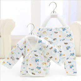 Wholesale Cheap Suit Pajamas - free shipping baby clothing comfortable cotton kids underwear suits Pajamas for newborn 30 sets cheap wholesale