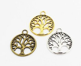 Wholesale Plate Suppliers - life of tree charms vintage silver gold bronze plants diy fashion jewelry accessories suppliers for jewelry 24*20mm