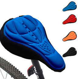 Wholesale Silicone Bicycle Saddle - Bicycle Bike 3D Silicone Gel Pad Seat Saddle Cover Soft Cushion F00293 SPDH