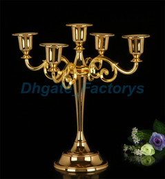 Wholesale Craft Sticks Wholesale - Metal Candle Holders 5-arms 3-arms Candle Stand Wedding Decoration Candelabra Centerpiece Candlestick Decor Crafts Silver Gold bronze JF-641