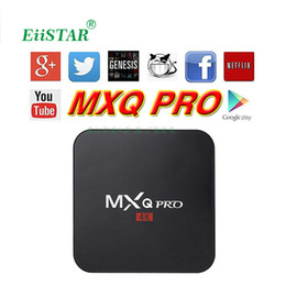Wholesale Faster Tv - 1 PCS Fast Shipping MXQ Pro 4K iptv box Rockchip rk3229 Quad-Core Andorid5.1 1G+8G 16.1 Jarvis Fully loaded add-ons android ott tv boxes