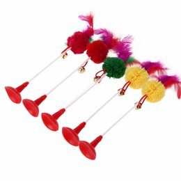 Wholesale Toy Cats For Sale - Hot sale 5pcs Funny Pet Cat Toys Feather Bottom Sucker Cat Kitten Playing Toys Pet Seat Scratch Toy For Cat Supplies