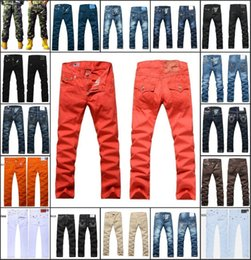 Wholesale Denim Jean Hot Pants - Wholesale DHL accepted Hot Brand Men's Jeans Men Pants Blue Denim designer Straight Casual Jean Camo Pant in stock size 30-40 free shipping