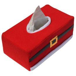 Supporto per carta auto online-Wholesale- Tissue Box Cover Rectangle Paper Holder Decorazione della casa di Natale Portatovaglioli Car Holder Tissue Christmas Gift boite mouchoir