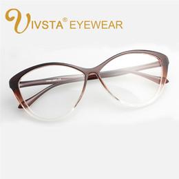Wholesale Big Frame Vintage Eyeglasses - Wholesale- IVSTA 5865 Flexible TR90 Plastic Titanium Cat eye glasses women Optical Frame Cats Prescription Butterfly big eyeglasses vintage
