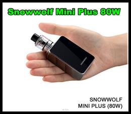 Snowwolf mini Plus 80 Вт стартовый комплект 3000mah с аутентичным Snow wolf TC Box Mod 2 мл емкость верхней заправки суб ом танк бесплатно DHL от