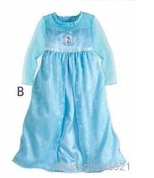 Wholesale Star Baby Dress - Hot Sale Girl Dress Baby Girl Party Dress Blue Color Princess Dress Princess Cosplay Girl Gift 5 p l