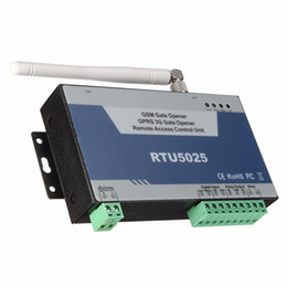 Wholesale Gsm Garage Door Opener - Freeshipping GSM Gate Opener GPRS 3G Door Opener(RTU5025) Remote Access Control Unit 999 users open Gate Barrier Shutter Garage Door