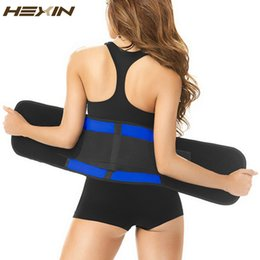 Wholesale Acrylic Trimmer - Wholesale- HEXIN Latex Slim Waist Trimmer Belt Adjustable Sweat Belt Fajas Body Shaper Classic Workout Latex Waist Trainer Corset Shapewear