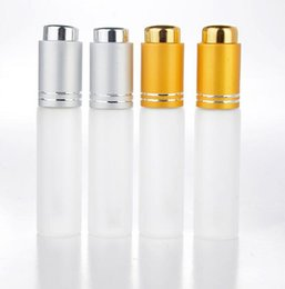 Wholesale Dropper Frosted Glass - 20 ML Mini Portable Frosted Glass Refillable Perfume Bottle Empty Cosmetic Parfum Vial With Dropper free shipping