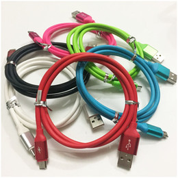 Wholesale Usb Charge 2a - 1M 3ft Candy Color 2A Micro USB Type C Cable High Speed Data Sync Wire Charger Cord Charging Line For Android Phone Galaxy S7 S8 100pcs DHL