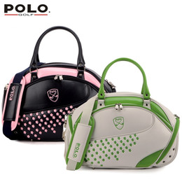 Wholesale Authentic Brand Handbags - Wholesale- Brand POLO Authentic Golf Clothing Bag Women Import PU Embroidered Waterproof Bag Handbag 2017 New High Quality Travel Bag