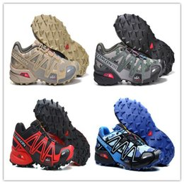 Wholesale White Mesh Walking Shoes - Original 2017 Zapatillas Speedcross 3 Running Shoes Men Walking Ourdoor Sport shoes Athletic Shoes Size 40-46