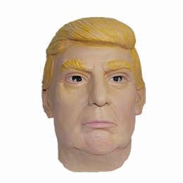 Wholesale Kids Latex Costume - Donald Trump Mask Billionaire Presidential Costume Latex Cospaly Cheap Funny Mask Props Donald Trump Overhead Latex Masks For Halloween