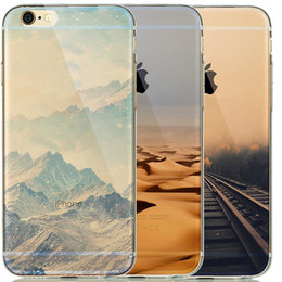 Wholesale Sunset Cover For Iphone - Soft Natural landscape TPU Silicone Case Cover For coque iphone 5 5S 6 6S Silicone Case Scenery Effiel Tower Paris London City sunset