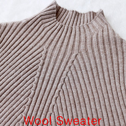 Wholesale Turtleneck Long Sleeve Shirt Girl - Wholesale-fashion women turtleneck wool knitted sweater female knitted slim pullover girls all-match basic long-sleeve shirt clothing L951