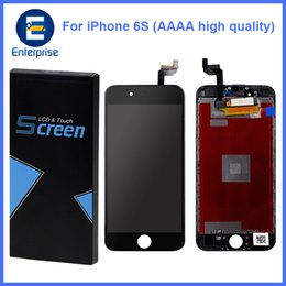 Wholesale High Dead - AAAA High Quality No Dead Pixels For iphone 6S 4.7 inch Full LCD Display Digitizer Touch Panel Screen Assembly With Frame DHL Free Ship