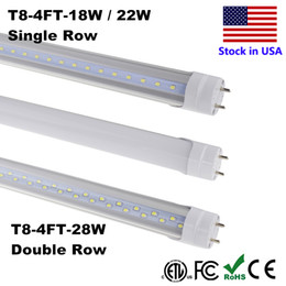 Wholesale Led Tube T8 18w Feet - LED Cool Tube 18W 22W 28W LED 4 ft Tube T8 LED Tube 4ft 4 Feet Tubes Lamp Cold White 6500K