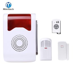 Wholesale Outdoor Alarm Siren - Wireless Alarm Outdoor Flash Siren Sound Strobe Flash Alarm Siren For Wif GSM PSTN Home Security Alarm System