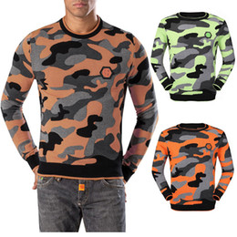 Wholesale Top Brand Wool Sweaters - 2017 New Luxury Brand Knitwear Men Wool Sweaters Pullovers Knitting Fashion Designerl Man Camouflage Wool Jumper Men's Top Quality