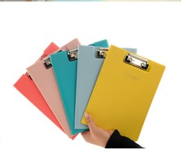 Wholesale A5 File - New A5 Writing Borad Clipboard Plywood File Folder Clip File Holder Pad Clipboard Free Shipping (7)