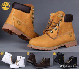 Wholesale Mens Yellow Boots - Brand New Timberland Ankle Boots with Chains Timberlands Women Mens Outdoor Winter Snow Boots Work Hiking Shoes
