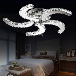 Wholesale Modern Ceiling Light Pendants - Modern Luxury Crystal Chandelier Light Fan Style Ceiling Lights Indoor Led Pendant Fan Lights Ceiling Lamps Living Room Ceiling Lamps