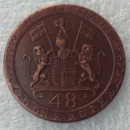 Wholesale East Dance - United East British India Company Madras Presidency copper 1 48 Rupee 1794 100% Copper Copy Coin