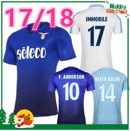 Wholesale Thai Quality - 2017 2018 Lazio home soccer jersey Thai Quality 17 18 DJORDJEVIC F.ANDERSON BASTA CRECCO LULIC L.BIGLIA IMMOBILE Sportiva Football shirt