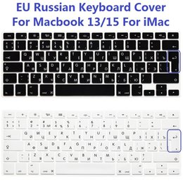 Wholesale macbook air silicone keyboard cover - EU Euro US Version RUS Russian Keyboard Cover For Macbook Air Pro Retina 13 15 Silicone Computer Keyboard Protector For iMac