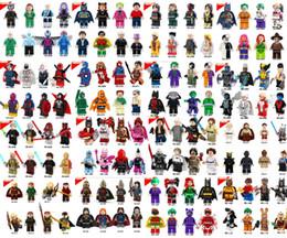Wholesale Batman Figures - 600pcs lot Individually Single Sale Marvel Super Heroes star avengers Batman Building Blocks Model Bricks Toys figures