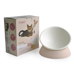 Wholesale Feeders Waterers Pet - The new Japanese any angle tilt non - slip pet bowl flat face cat bowl of pet supplies