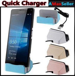 Wholesale Iphone 5s Cradle - New Quick Charger Docking Stand Station Cradle Charging Sync Dock With Retail Box For iPhone 6 7 Plus 5S TYPE C For Samsung S6 S7 edge Note